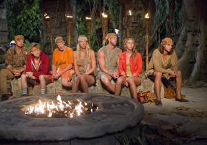"""Actions vs. Accusations"" - The Coyopa Tribe at Tribal Council during the third episode of Survivor 29, Wednesday, Oct. 8 (8:00-9:30 PM, ET/PT) on the CBS Television Network. Photo: Monty Brinton/CBS ©2014 CBS Broadcasting, Inc. All Rights Reserved."
